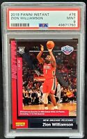 2019 Panini INSTANT Pelicans ZION WILLIAMSON ROOKIE Basketball Card PSA 9 MINT