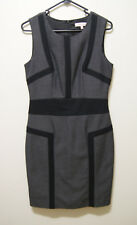 DIANA FERRARI DRESS BLACK GREY SHEATH DRESS, Sz 8