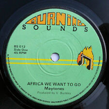 """MYTONES Africa we want to go / GG ALL STARS - rare 7""""er UK"""