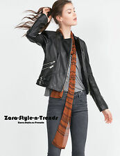 Limited Edition!! Size S - ZARA REAL LEATHER BIKER JACKET WITH ZIPS COAT BLAZER