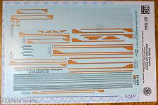 Microscale Decal HO #87-564 Pacific Electric Interurban Car Stripes (1911-1961)