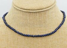 2x4mm Natural Faceted Dark Blue Lapis Lazuli Gemstone Beads Necklace 18'' AAA
