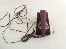 More details for retro wild & wolf funky 1970's purple trim phone. f19
