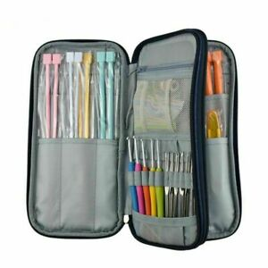 Sewing Tools Storage Bag Crochet Hook Knitting Needles Scissor Ruler Organizer