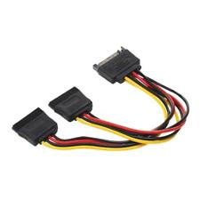 SATA 15pin Power Y Splitter Male to 2 Female Cable 15 Pin Cord Adapter Connector