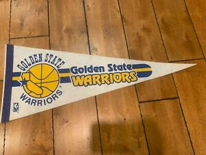 "Vintage 1980'S Golden State Warriors NBA Basketball Pennant 30"""