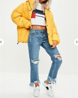 Missguided deconstructed ripped boyfriend jean £43 UK 16 - UK 24 (A 62)