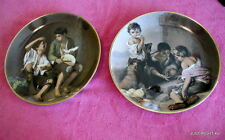 """Schumann (Children Playing, Eating Fruit) PAIR OF 11 3/4"""" CHARGERS"""