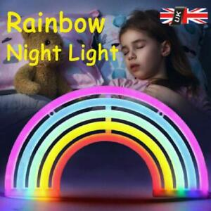 LED Colourful Rainbow Neon Light Stand Wall Bar Lamp Table Lamp Club Home Lamp