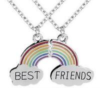 2 Colliers Best Friends Arc-en-Ciel a séparer, Meilleures amies.
