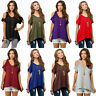 Women Summer Cold Shoulder Loose Top Short Sleeve Blouse Casual Tops T-Shirt New