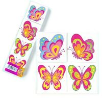 12 Glitter Butterfly Tattoos  Transfers Girls Birthday Party Loot Bag Fillers