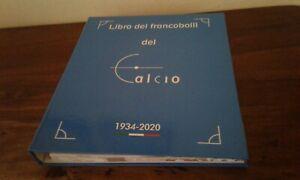 VOLUME FILATELIA POSTE ITALIANE FRANCOBOLLI DEL CALCIO 1934-2020.JUVENTUS,MILAN,