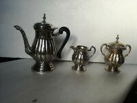 Servizio tè Sheffield Edward Collection lattiera zuccheriera teiera argento