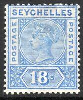 Seychelles 1897 ultramarine 18c crown CA Die II mint SG31