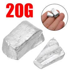 20g/0.7 oz High Purity 99.995% Pure Indium In Metal Lumps Blocks Ingots Sample