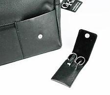 Hochwertige Kulturtasche von CeKa, Rindleder, schwarz, mit Reisenecessaire - TOP