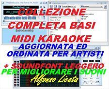 BASI MIDI KARAOKE RACC. COMPLETA ORDINATA E AGG. MAGGIO 2021 + MODIFICA SUONI