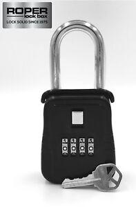 Key Lock Box for Home Security, Welfare Check, Medical Emergency - Door Hanger