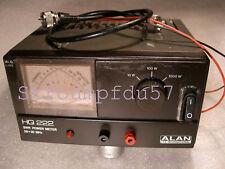 SWR - POWER - Meter Alan HQ 222 - Normes CE - aiguilles croisées