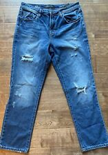 Mens Liverpool RELAXED STRAIGHT 34x32 Waco Destruct Distressed Blue Jeans Ripped