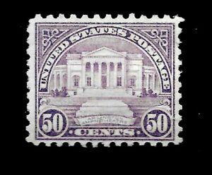 US 1932 Sc# 701 ~ 50 cent Arlington Amphitheater Mint H - Vivid Color - Centered