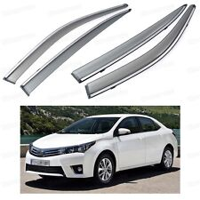Front & Rear Side Window Deflector Visor Vent Shade for Toyota Corolla 2014 2015