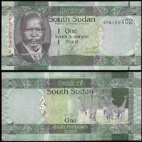 SOUTH SUDAN 1 Pound, 2011, P-5, UNC World Currency