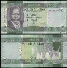 SOUTH SUDAN 1 Pound, 2011, P-5, UNC World Currency Banknote