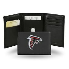 Atlanta Falcons NFL Team Logo Embroidered Leather TRIFOLD Wallet