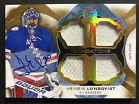 2016-17 The Cup Henrik Lundqvist Foundations Auto Jersey 01/15