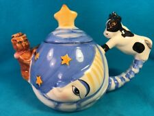 Cow Jumped Over the Moon Teapot Cow Handle Cat Spout Designpac Colorful