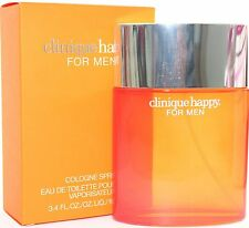CLINIQUE HAPPY BY CLINIQUE 3.4 EDT SPRAY *MEN'S COLOGNE* NEW SEALED BOX* PERFUME