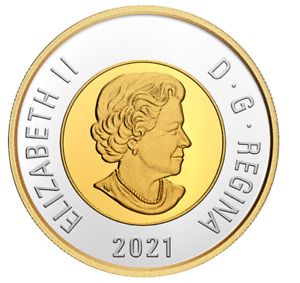 2021 Canada Classic design Toonie $2 proof finish 99.99% silver coin gold plated