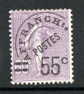 (025)     France 1926 Sower Surch 55c on 60c Violet VF Used
