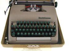 Smith Corona Sterling Portable Typewriter 1950s Case Key Manual EUC Works