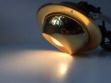 Vtg Danish Modern NOS Flush Mount Mirror Brass Rotating Globe Louis Poulsen era