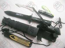 Military Survival Jungle Knife w Multi Function sheath