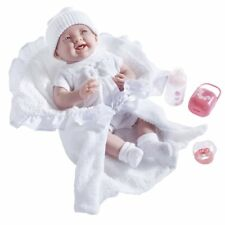 Jc Toys Deluxe Realistic Doll With Gift Set, White, 15.5""