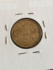 Guatemala 1948 1 Centavo Bronze Coin + AU