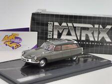 Matrix 40304-012 # Citroen ID19 Cortege Slough Factory Hearse Bj.1962 grau 1:43