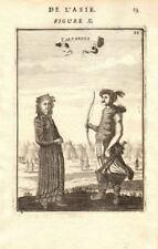 CENTRAL ASIA. Tartar warrior & woman. Tents Sword Bow 'Tartarres'. MALLET 1683