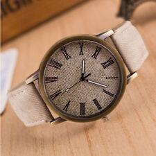 Retro Watch Cowboy Leather Band Analog Quartz Men Women Simple Wrist Watches