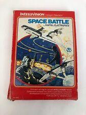 Mattel Electronics Intellivision Video Game Space Battle IOB Manual 2 overlays