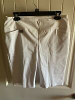 NWT LISETTE L SPORT Ladies White Golf Bermuda Shorts Fit To Flatter size 6 $98