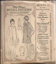 Vintage Girls Dress Sewing Pattern M4674 Size 12