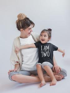I Am Two 2nd Birthday Kids Tshirt Birthday 2 Childs Age Gift Party Boy Girl