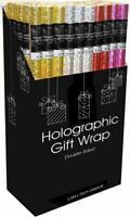 4 X Holographic Gift Wrap Rolls Foil Party Shiny Paper Rolls Foil Gift Rolls UK