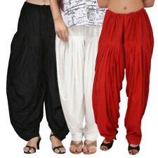 Combo Pack of 3 Women Comfortable Punjabi Salwar Kameez Patiala Salwar Free Size