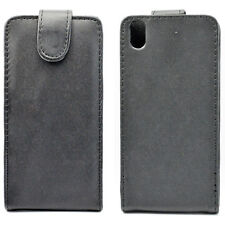 Flip Black Leather Hard Shell Phone Case Cover Pouch For HTC Desire Eye M910x